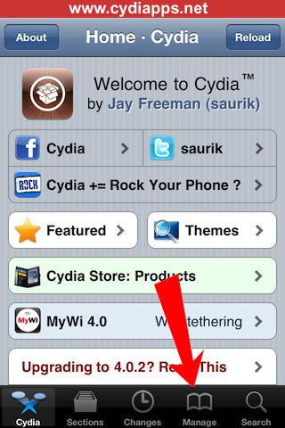 Cydia App Manage