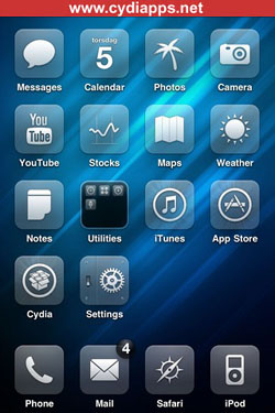 Glasklart HD best Cydia theme for iPhone