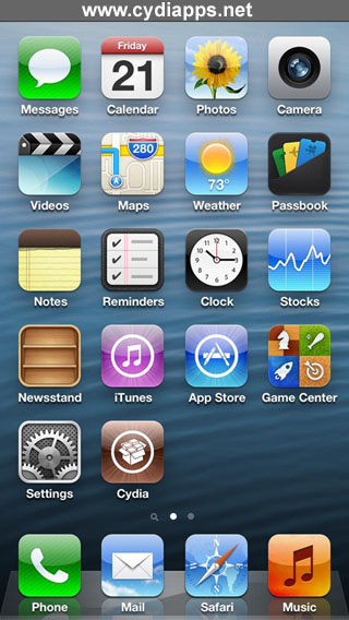 Cydia on iPhone 5