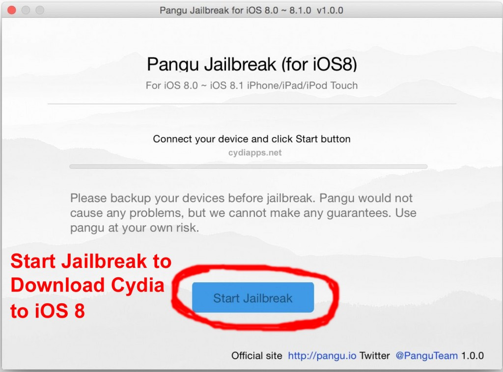 Pangu Download Cydia iOS 8
