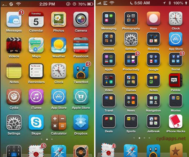 Winterboard Cydia apps for iPhone 6